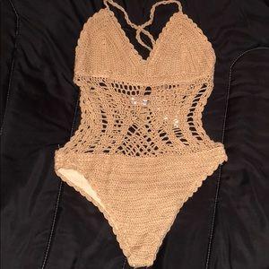Crochet Tan Bathing Suit!
